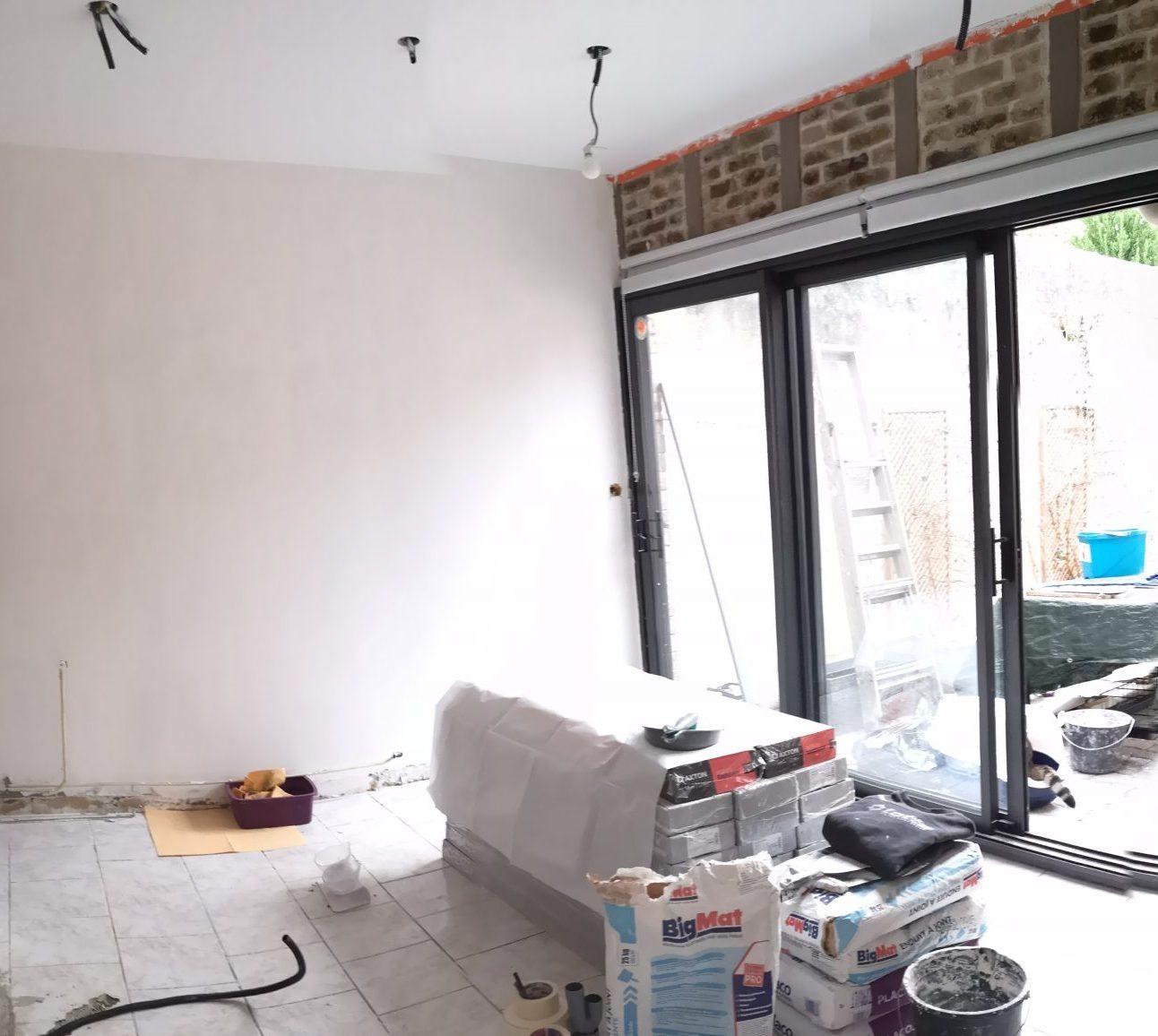 Rénovation d'un mur existant