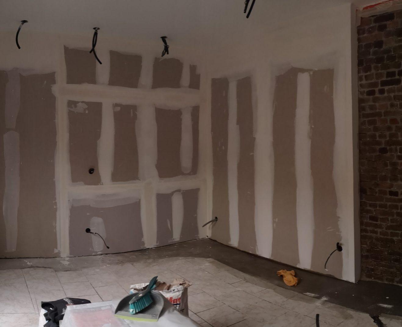 Rénovation mur existant